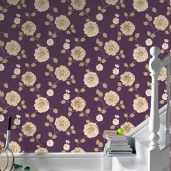 Charlotte Purple & Cream Flower
