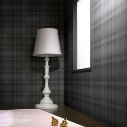 Audrey Tartan Grey Check Wallpaper