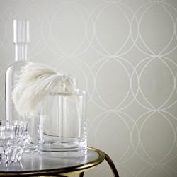 Savoy Pearl White Wallpaper