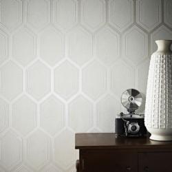 Chamonix Pearl White Wallpaper