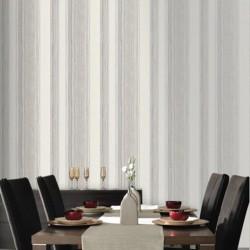 Twine Stone Grey Stripe Wallpaper