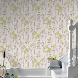 Empathy Green Floral Trail Wallpaper
