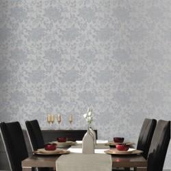 Jacquard Floral Wallpaper