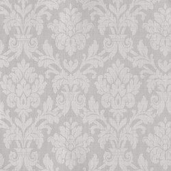 Beaune Argent Grey Damask Wallpaper