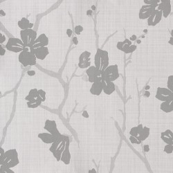Corcelle Argent Pale Grey Floral Wallpaper