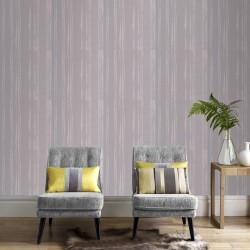 Laddered Stripe Grey Wallpaper