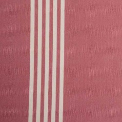 Oxford Stripe Peony Red Wallpaper