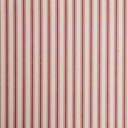 Ticking 01 Peony Red Stripe Wallpaper