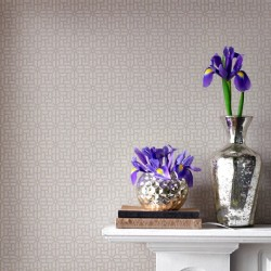Salizzada Beige Gold Trellis Wallpaper