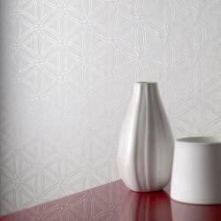 Gloriental White Wallpaper