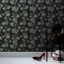 Paradise Garden Black Wallpaper