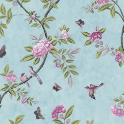 Chinoiserie Duck Egg Blue Floral