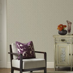 Trellis Stone Grey Wallpaper