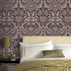 Desire Purple & Gold Wallpaper