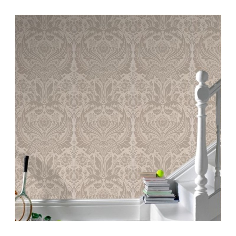 Desire desire taupe cream wallpaper
