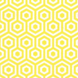 Honeys Yellow & SIlver Wallpaper