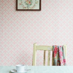 Diagonal Dot Pink Wallpaper