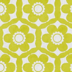 Funky Flora Lime Green Wallpaper