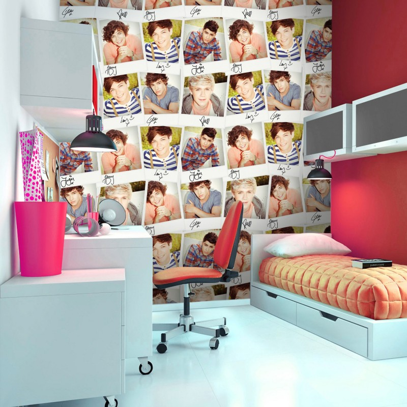 One direction collage wall mural 1d collage wall mural for Mural collage