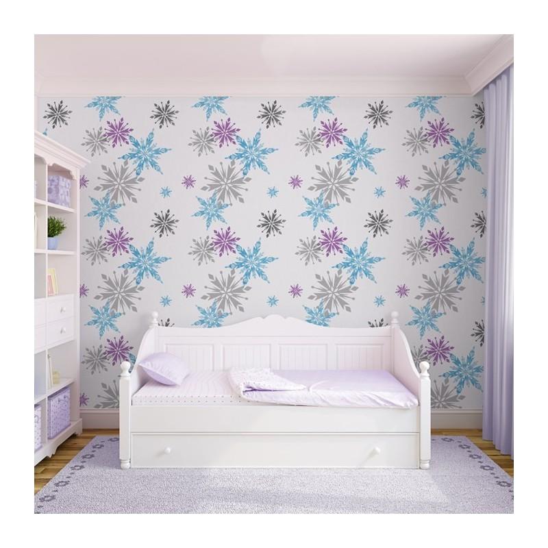 Disney Snowflake Wallpaper Frozen Kids Room Wallpaper
