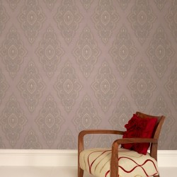 Jewel Mocha and Gold Damask Wallpaper