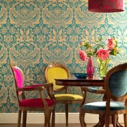 Desire Green & Beige Wallpaper