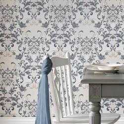 Abigail Sapphire Blue Wallpaper