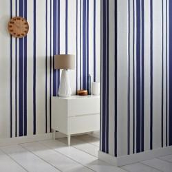 Hoppen Blue and White Striped Wallpaper