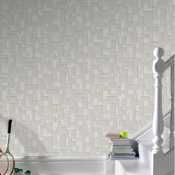 Checker Beige & Stone Wallpaper