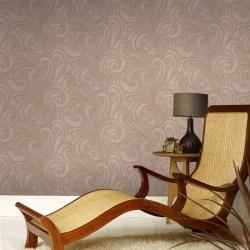 Saville Latte Brown Wallpaper