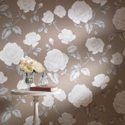 Countess Taupe Brown Wallpaper