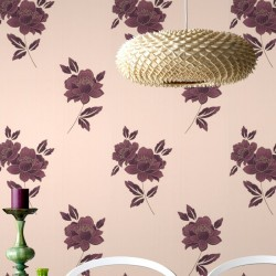 Lulu Plum Wallpaper