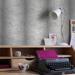 Leopard Skin Grey Wallpaper