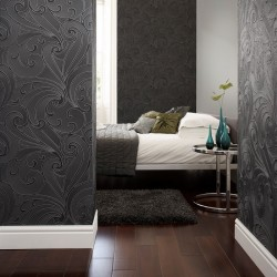 Saville Black Wallpaper