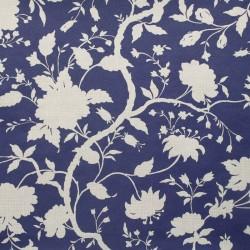 Botanic Blue Floral Wallpaper