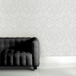 Burlesque White Wallpaper