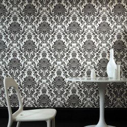 Elizabeth Black and White Damask