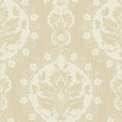 Lourdes Vintage Damask Butterscotch