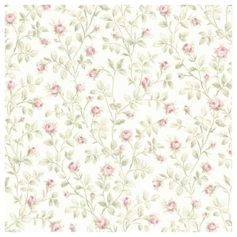 Buy jardin rose vine bright pink green fd fd66809 floral for Bright pink wallpaper uk