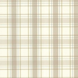 Grand Plaid Tropical Beige and Blue