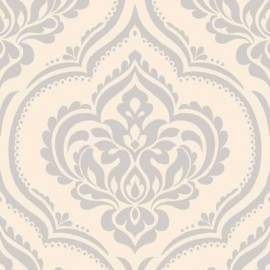 Ornamental Damask Beige