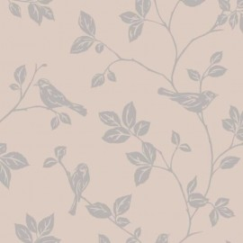 Leaf and Birds Taupe