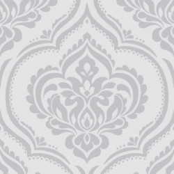 Ornamental Damask Soft Grey