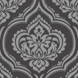 Ornamental Damask Black