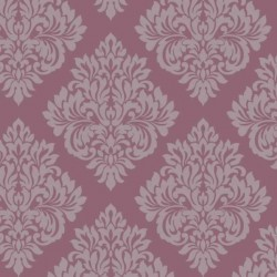 Damask Plum Purple and Silver