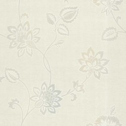 Gemini Floral Creme and Grey