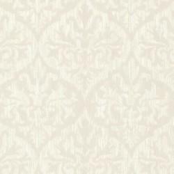 Sumatra Ikat Damask Cream