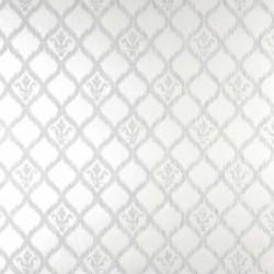 Jakarta Ikat Motif White and Silver