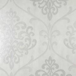 Ambrosia Glitter Damask White and Silver