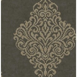 Lux Foil Damask Chocolate